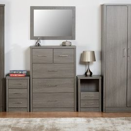 Dark styled bedroom furniture set